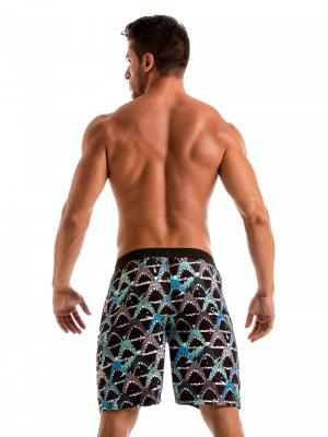 Geronimo Board Shorts, Item number: 1909p4 Blue Shark Surf Shorts, Color: Blue, photo 6