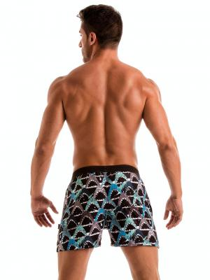 Geronimo Swim Shorts, Item number: 1909p1 Blue Shark Swim Shorts, Color: Blue, photo 6